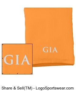 Velour Beach Towel - Tangerine (Embroidered) Design Zoom